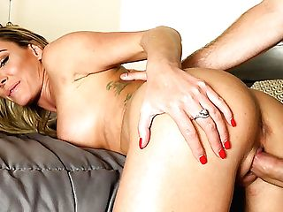 Appetizing Buxomy Cougar Isabelle Deltore Just Loves Some Hard Rear End