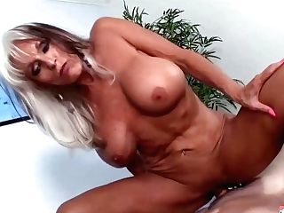 Experienced Blonde Woman With Big Tits, Sally Dangelo Likes To Have Casual Fucky-fucky With A Junior Boy