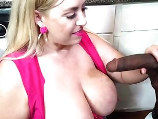 Voluptuous Blonde Pink Cigar Sucker Has Hooked Up With A Black Fellow, Just To Have Lovemaking With Him