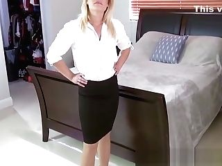Classy Cougar Tugging Dick And Providing Stepson Bj