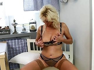 Hot Blonde Housewife Playing With Her Moist Labia - Maturenl
