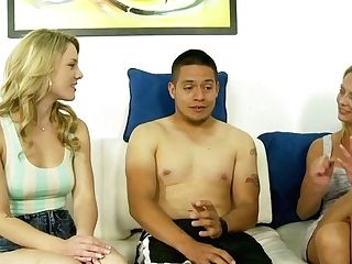 This Horny Blondes Call The Boy To Demonstrate Him Their Sucking Abilities
