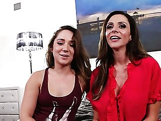 Jaw Pulling Down Beauty Ariella Ferrera Gives Interview Before The Scene