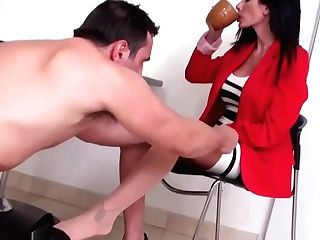 Hypnotize Nylon Foot Mistress